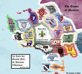 La Carte des Grands Fiefs du Royaume d'Aquitaine by TheFlowerofChivalry