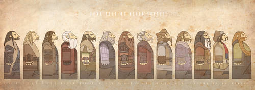 Thirteen Dwarves by mustamirri