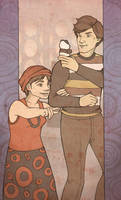 60's Girl and Future Boy by mustamirri