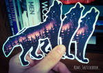 Twilight Wolf Stickers by The-Woodland-Wolf