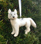Wolf Ornament by The-Woodland-Wolf