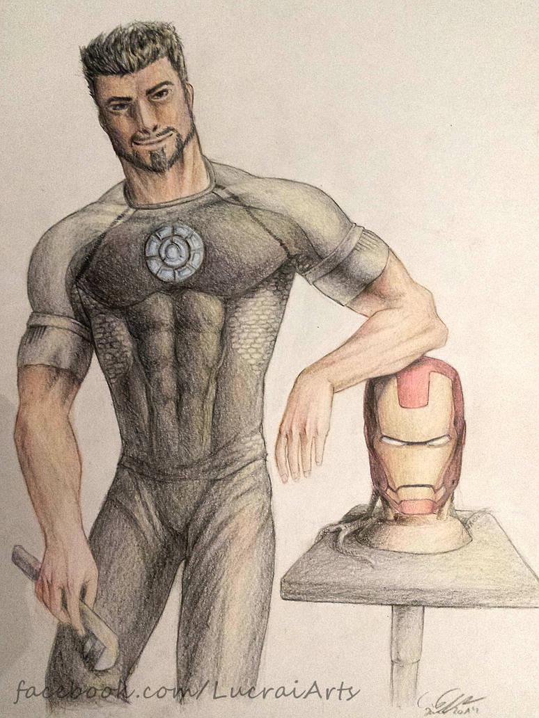 The great Tony Stark by Lucrai-Arts