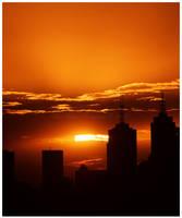 Ville au soleil by Kerridwyn