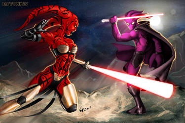 The Glyph Vs Darth Talon Finale! By Gavin Michelli by Estonius