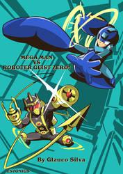 Mega Man VS Roboter Geist Zer0! By Glauco Silva! by Estonius