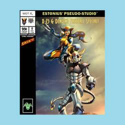 X-23 + Dengeki Ryouji = Fastball Special! *SNIKT* by Estonius