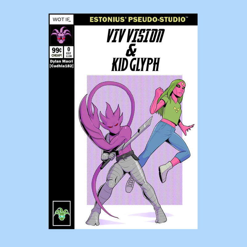Marvel Team-Up: Viv Vision + Kid Glyph! ~Cadhla182 by Estonius