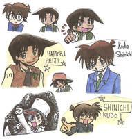 Detective Conan chibi collect by Marimokun