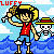 I made a Luffy Icon by Marimokun