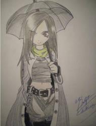 Umbrella Gothic Girl by EmoPittieplatsch