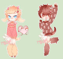 Set 0071[closed] Chocolate Strawberry Goats by PastelBits