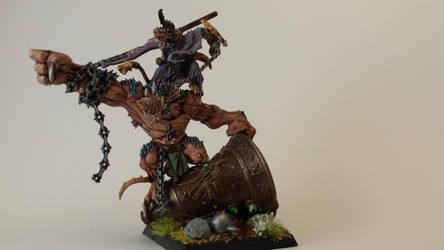 skaven warlord on bonebreaker by ChiefRat