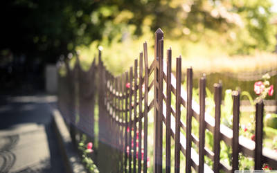 Metal Fence-wallpaper-2560x1600 by bhautik1