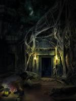 Jungle temple by maariusz