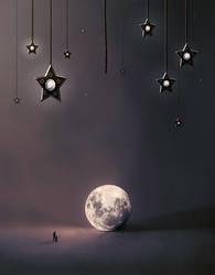 Fallen moon by maariusz