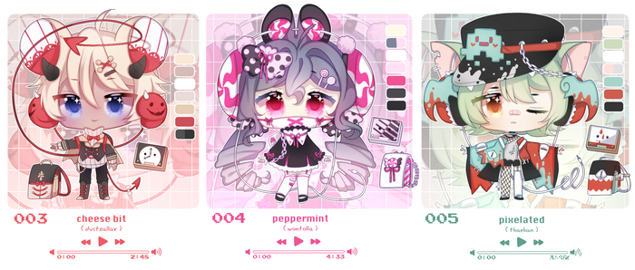 ~open~ meromecha #003 - #005 ( auction ) by rinihimme