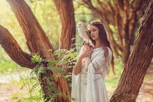 Elf and owlet (2) by Swan-Lake