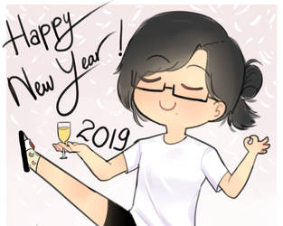 Happy New Year 2019!! by owoSesameowo