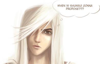 Ukitake wonders... by Go-Devil-Dante