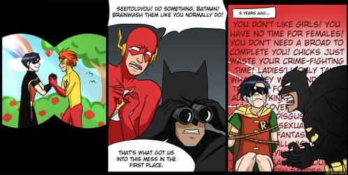 robin 1, batman OVER 9000 by Go-Devil-Dante