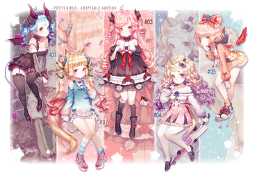 Petite Girls Adoptables [1/5Auction OPEN] by AloNiar