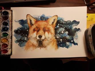Happy Fox by dragonchickenmonster