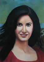 Katrina Kaif pastel drawing by Vishvesh99
