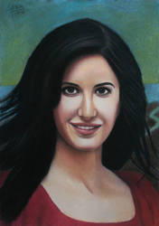 Katrina Kaif pastel drawing by Vishvesh99