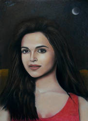 Deepika Padukone pastel drawing by Vishvesh99