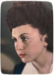 My mother in 1947 by SUDOR