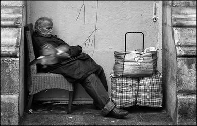 The old man and the pigeon by SUDOR