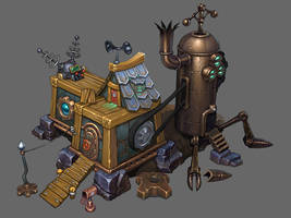 steampunk workshop by oleglinkov