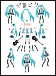 Miku Hatsune Animation pack by Gridzheh9