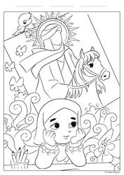 Imam Mahdi coloring page by zhrza