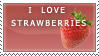 I love strawberries stamp by EminaAcqua