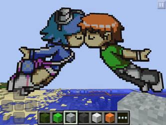 Minecraft love/Scott pilgrim by 8loodyrain