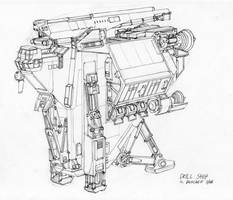 Drillship Sketch by MikeDoscher