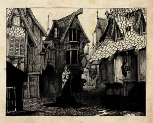 Gloomy Street by MikeDoscher