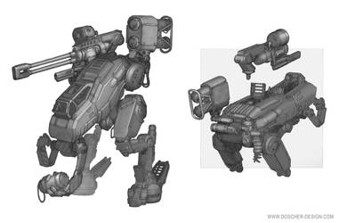 Armed Utility Walker by MikeDoscher