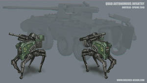 Quad Infantry Sketch by MikeDoscher