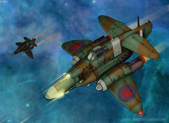 1940s Space Fighter by MikeDoscher