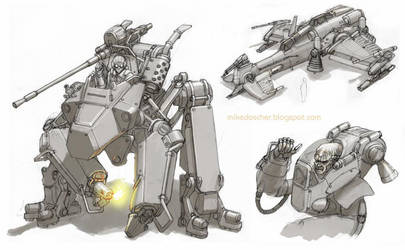 Mechanical Sketches 2 by MikeDoscher