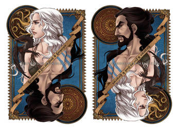 Daenerys and Drogo by Orpheelin