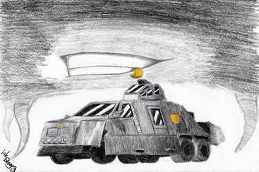 Chisel's Storm Chaser Alt Mode by inkdragon13