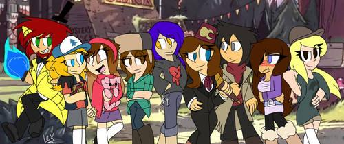 Gravity Falls Squad by flindsey09