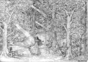 Beren And Luthien by lomehir