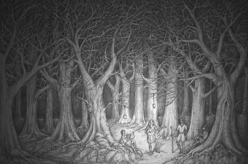 Bards in the Old Forest by lomehir