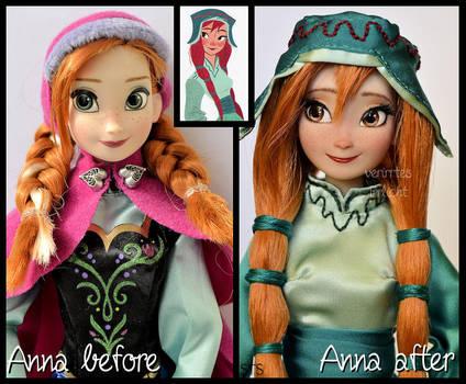 repainted ooak concept art anna doll. - gerda. by verirrtesIrrlicht
