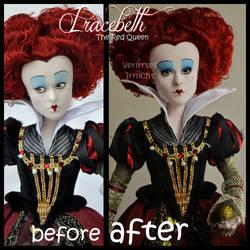repainted ooak red queen iracebeth doll. by verirrtesIrrlicht