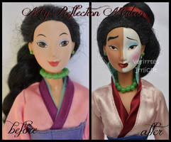 repainted ooak my reflection mulan doll. by verirrtesIrrlicht